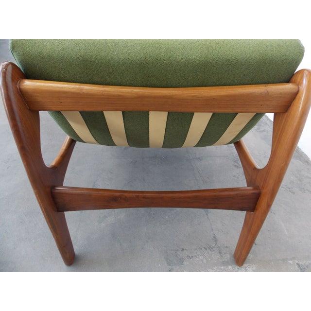 Italian Wood Sling Lounger - Image 6 of 9