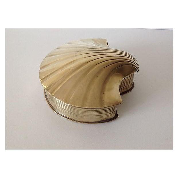 Brass Fanned Shell-Shaped Keepsake Box - Image 5 of 8
