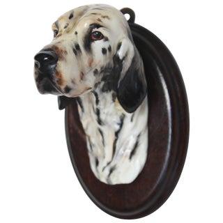 English Porcelain Setter Head Mount For Sale
