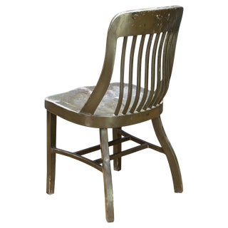 1940s Us Outer Barracks Metal Chair Vintage Industrial Aluminum MId-Century For Sale
