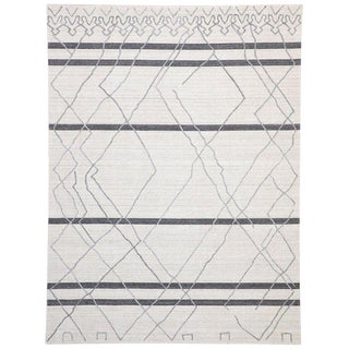 Contemporary Gray Moroccan Style Area Rug - 8′10″ × 11′9″ For Sale