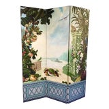 Image of Maitland Smith Handpainted 3-Panel Screen For Sale