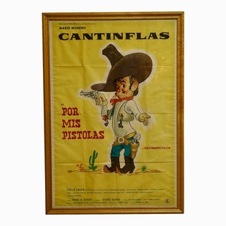 """Circa 1968 """"Por Mis Pistolas"""" Cantinflas Lithograph Poster For Sale"""