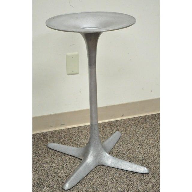 Burke Burke Mid-Century Modern Aluminum Tulip Propeller Dining Table Base For Sale - Image 4 of 12