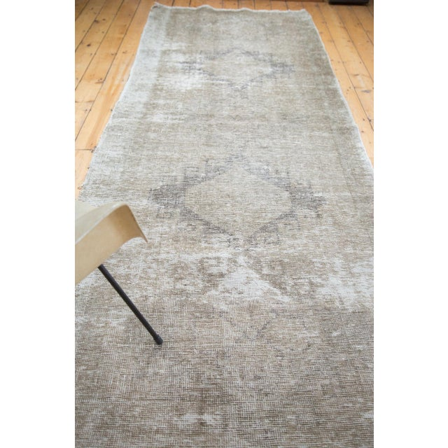 "Distressed Oushak Runner - 4'4"" X 12'9"" - Image 8 of 9"