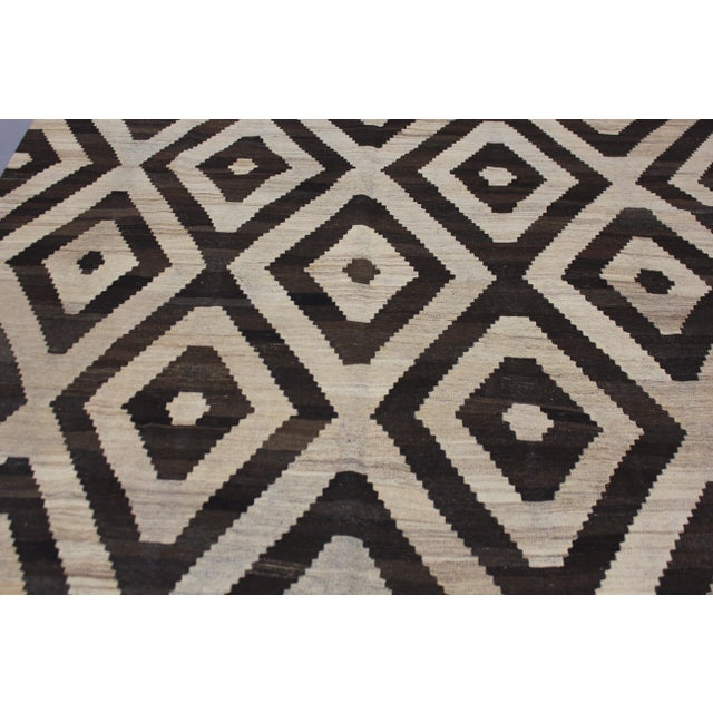"""Contemporary Aara Rugs Inc. Hand Knotted Modern Kilim - 6'11"""" X 8'3"""" For Sale - Image 3 of 5"""
