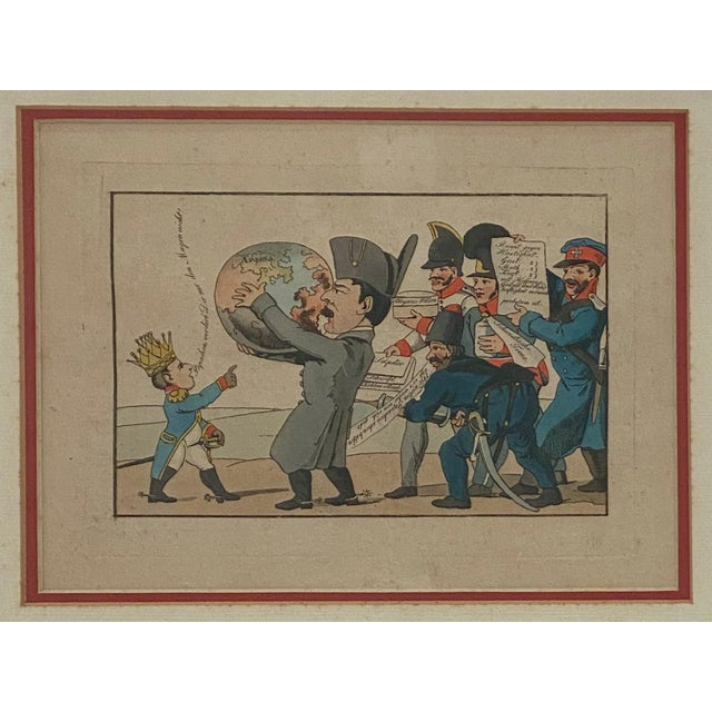 French 1810 Napoleon & the World Political Cartoon, France For Sale - Image 3 of 6
