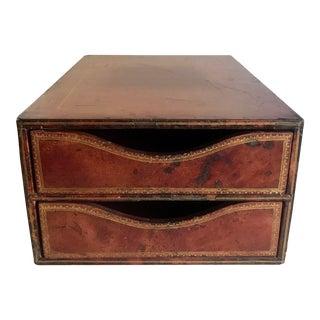 Antique c.p Leathercraft File Organizer For Sale