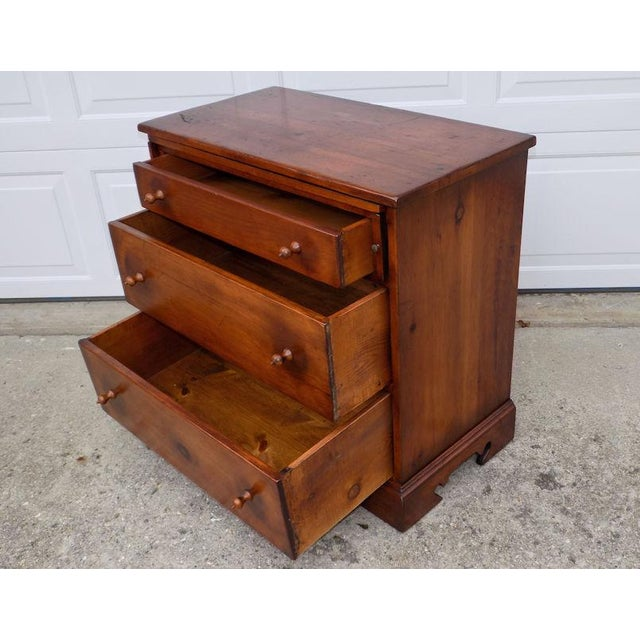 Bachelor chest by Pine Tique of Muskegon, Michigan. Believe this was made in the 40's or 50's but is not dated, clearly...