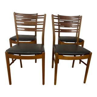 Vintage Danish Teak Dining Chair Set by Farstrup- Set of 4 For Sale