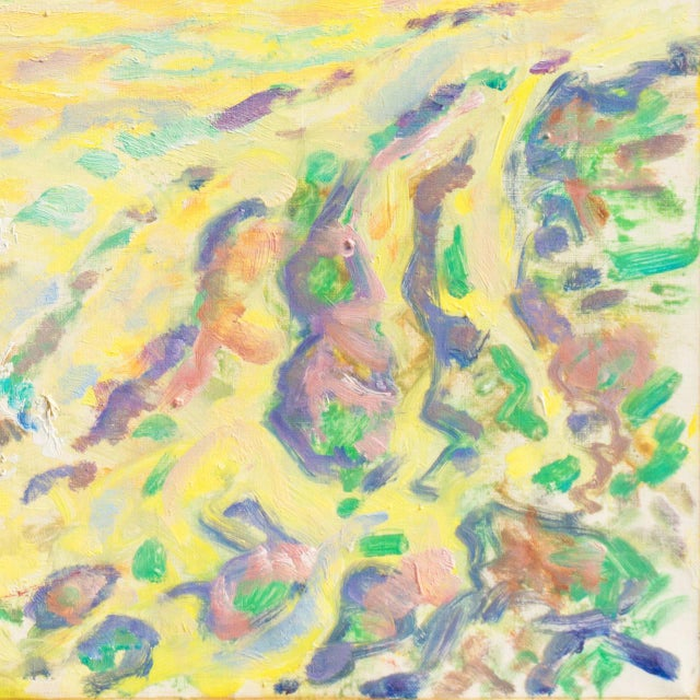 Expressionism Ejnar R. Kragh Spring Landscape For Sale - Image 3 of 10