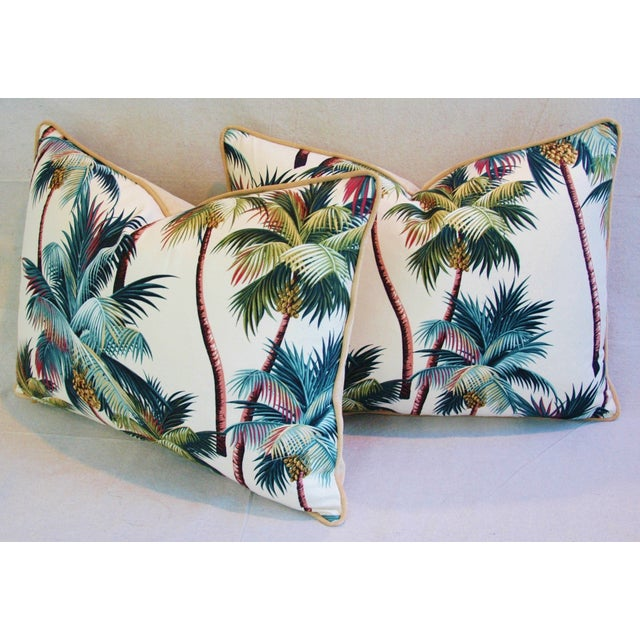 Designer Tropical Coconut Palm Tree Pillows - Pair - Image 4 of 10