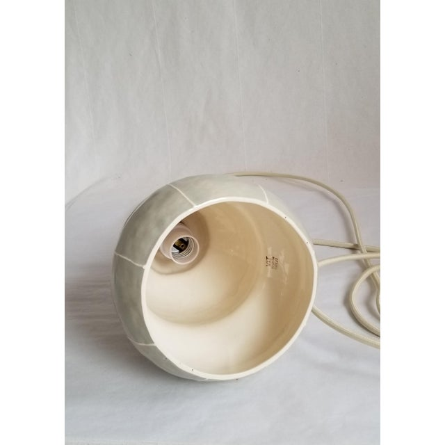 Modern Handmade kRI kRI Studio Ceramic Gray Pendant Light For Sale In Seattle - Image 6 of 9