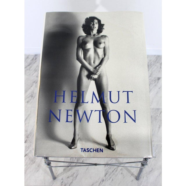 Chrome Helmut Newton Sumo Big Nude Art Book on Starck Chrome Stand Signed 3114/10000 For Sale - Image 7 of 13