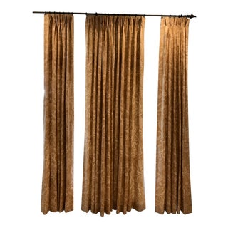 Lined Curtain Panels - Set of 3 For Sale
