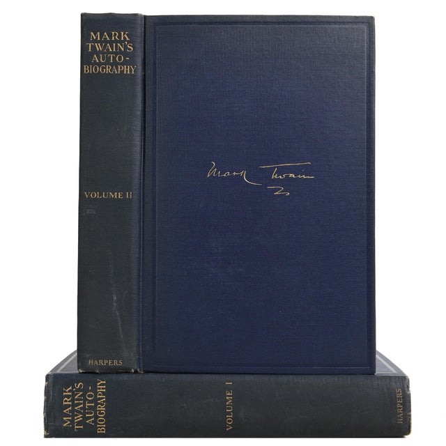 """1924 """"Mark Twain's Autobiography 2 Vols."""" Collectible Book For Sale In Atlanta - Image 6 of 6"""
