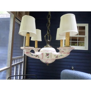 Faience Four Arm Chandelier Preview