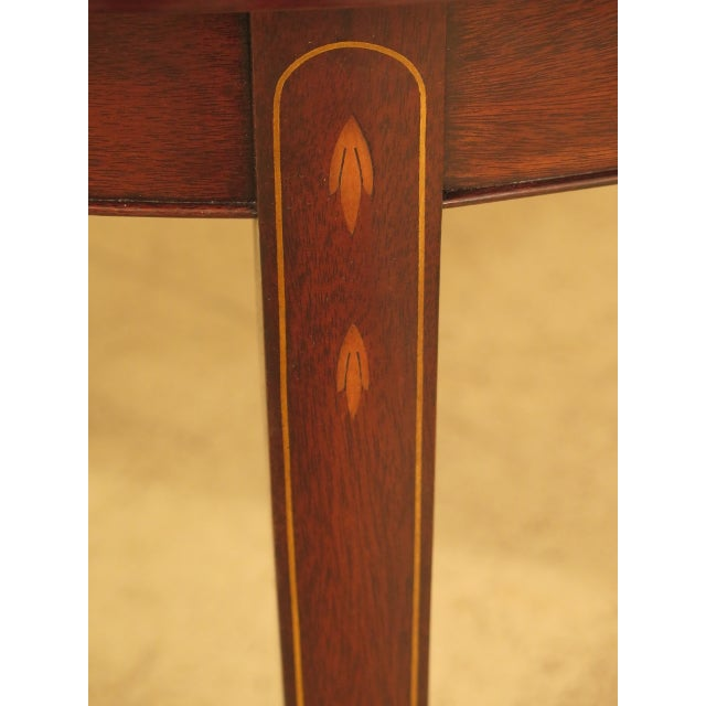 Henkel Harris Henkel Harris Inlaid Federal Mahogany Dining Room Table For Sale - Image 4 of 13
