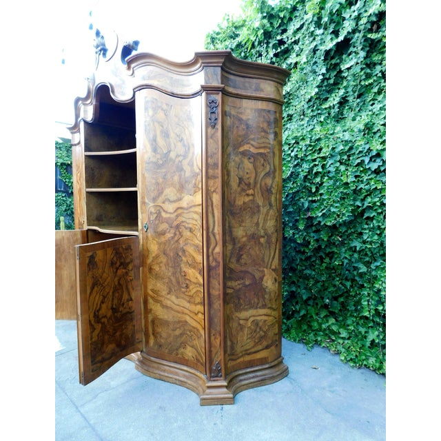 Wood 1920s French Oakwood Hutch For Sale - Image 7 of 13