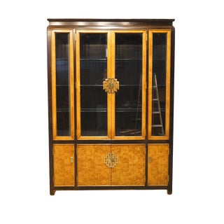 "Century Furniture Chin Hua Asian Chinoiserie 58"" Illuminated Display China Cabinet For Sale"
