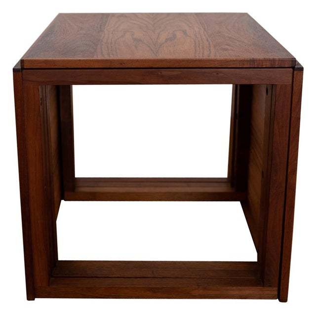 Rosewood Kai Kristiansen Nesting Cube Tables For Sale - Image 12 of 12