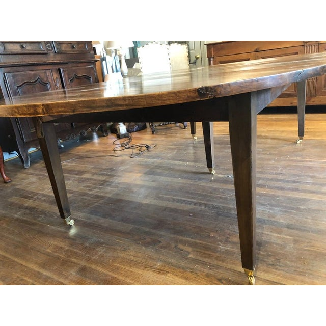19th Century Louis XVI Style French Provincial Extending Walnut Dining Table For Sale - Image 4 of 9