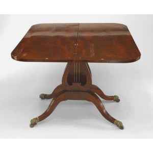 American Federal style (19th Cent) mahogany flip top console/card table with lyre base