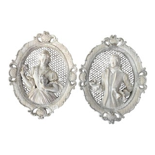 Vintage Bride and Groom Wall Motifs - A Pair