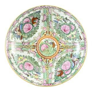 Chinoiserie Rose Medallion Bowl For Sale