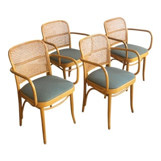 Caned & Bentwood Chairs - Set of 4
