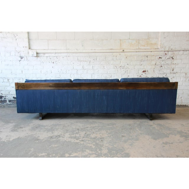 Milo Baughman Style Mid-Century Modern Floating Sofa For Sale - Image 9 of 11