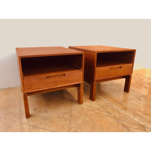 Brown Danish Nightstands by Johannes Aasbjerg - a Pair For Sale - Image 8 of 8
