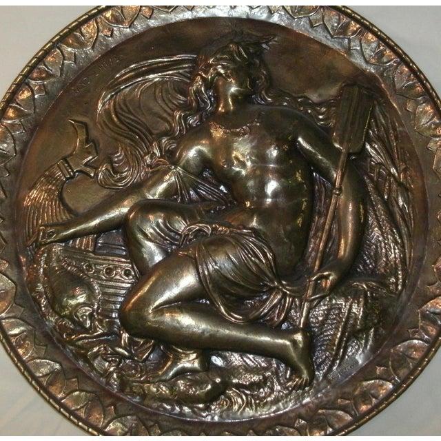 Hand Embossed Greek Mythology Wall Art Discs - Set of 3 For Sale - Image 4 of 13
