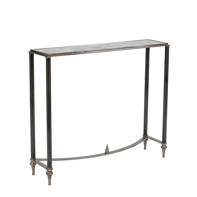 Maison Jansen Pair of French Post-War Design Console Tables For Sale - Image 4 of 4