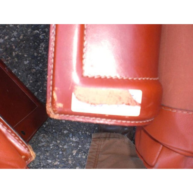 1960s Leather Mid-Century Modern Club Chairs - A Pair For Sale - Image 5 of 6