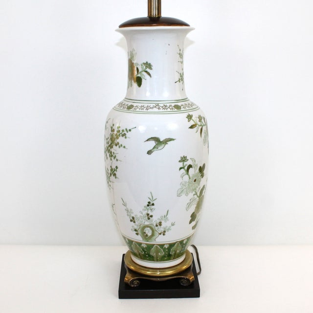 Overscale Vintage Japanese Porcelain Lamp - Image 3 of 10