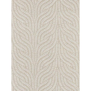 Sample, Scalamandre Willow Vine Embroidery, Flax Fabric For Sale