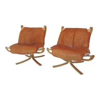 Vatne Mobler Sigurd Ressell Falcon Chairs - a Pair
