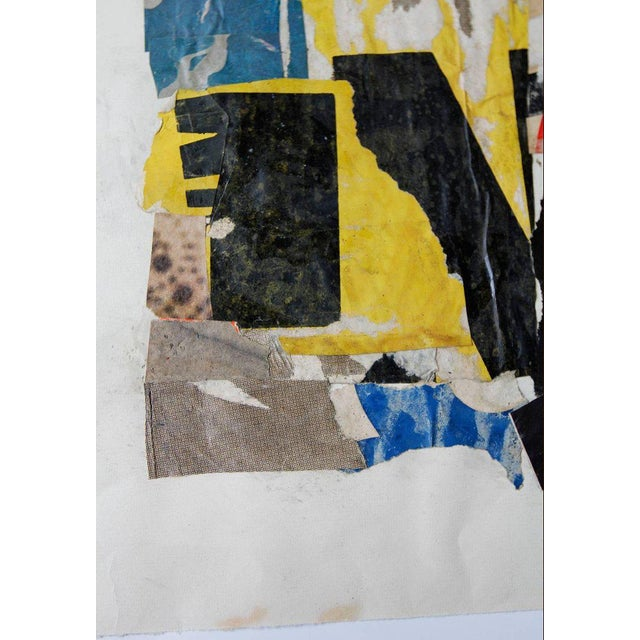 Abstract Vintage Collage on Paper For Sale - Image 3 of 6