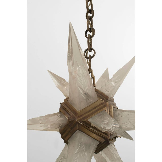 Early 20th Century 1930s American Art Deco Star Form Chandelier For Sale - Image 5 of 7