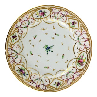 Late 18th. Century Antique Vaux Plate For Sale