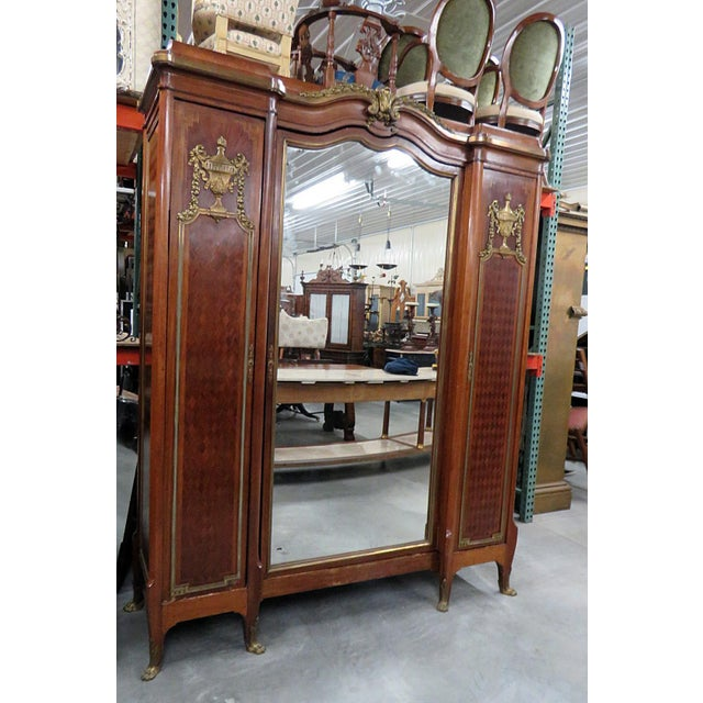 Gold Regency Style Wardrobe Attr Forest For Sale - Image 8 of 8