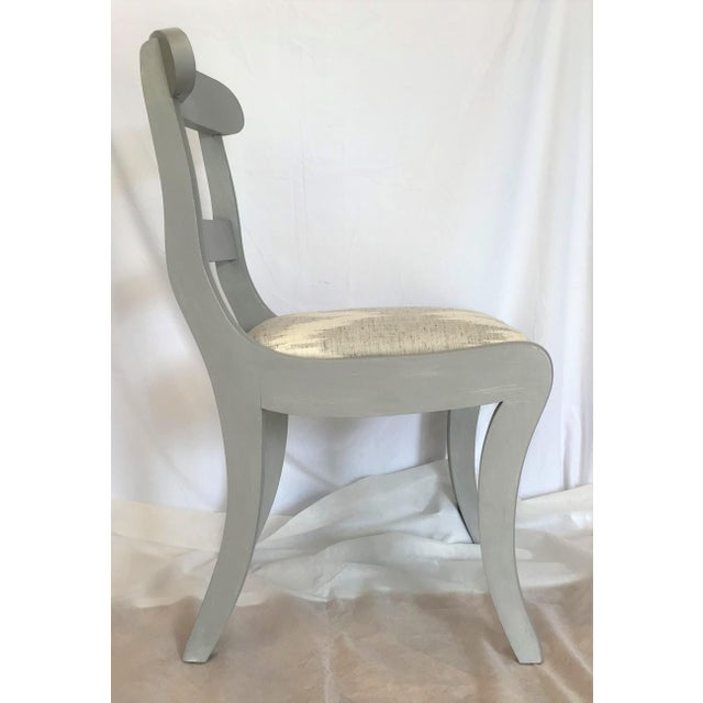 1940s Gustavian Gray Klismos Dining Chairs - Set of 6 For Sale - Image 5 of 7