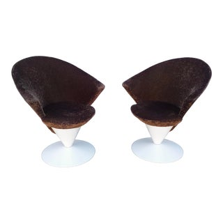 1960s Space Age Adrian Pearsall for Craft Associates Model #2353-C Cone Chairs - a Pair For Sale
