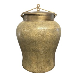 Chinese Faux Shagreen Storage Jar