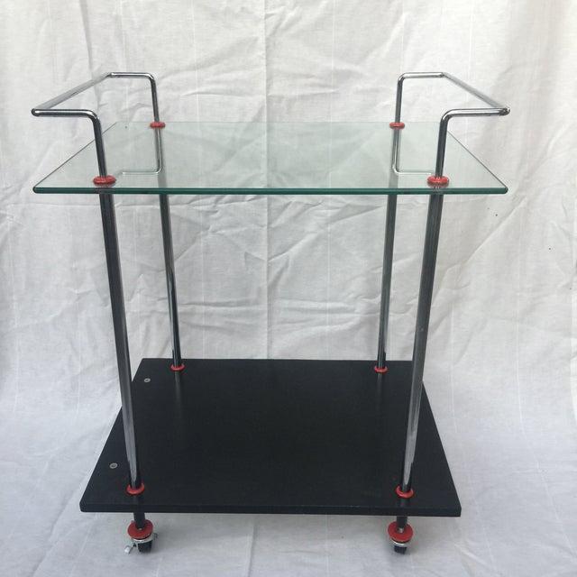 1980s Vintage Casprini Linear Bar Cart For Sale - Image 11 of 11