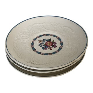 Vintage Wedgwood Patrician Morning Glory Pattern Cream Soup Saucers S/3 For Sale