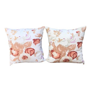 Vintage Linen Feather Pillows - a Pair For Sale