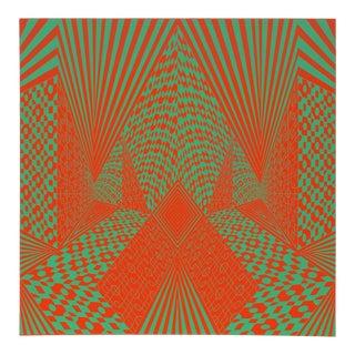 """1960s Roy Ahlgren, """"Conceptual Perspective Iii"""", Op Art Screenprint For Sale"""