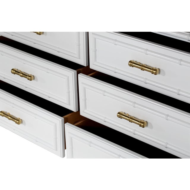 White Faux-Bamboo Dresser - Image 4 of 4